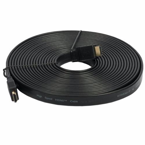 Cable Hdmi A Hdmi V 1.4 Flat 20 Metros Plano Full Hd 1080p