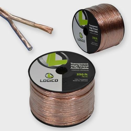 Cable Polarizado Para Audio / Bocinas Cal 14 - 76mts