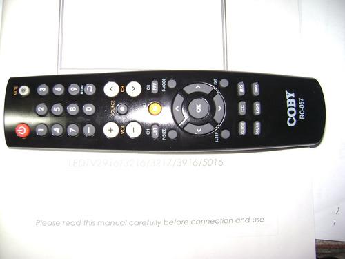 Control Remoto Para Pantalla Coby Rc-057 (nuevo)