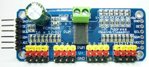 Controlador Serial 16 Servos I2c Arduino Pic Avr Robot