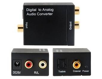 Convertidor Optico A Rca Stereo, Audio Digital A Analogo