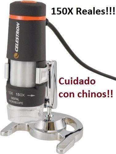 Excelente Microscopio Celestron 150x Cuidado Con Los Chinos!