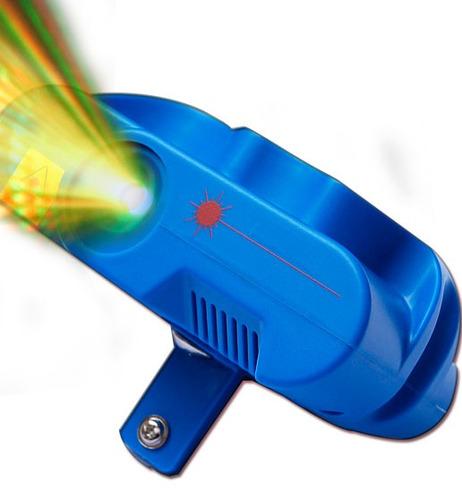 Laser Doble Color Multipuntos Y Estrobeo 150mw Luz Disco New
