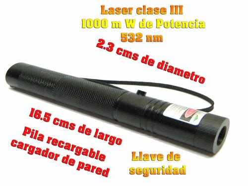 Laser Verde De 1000 Mw Recargable Cabeza Caleidoscopica
