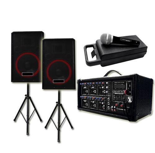 Mezcladora +2 Bafles 15+2 Tripies+ Microfono C/ Envio Gratis