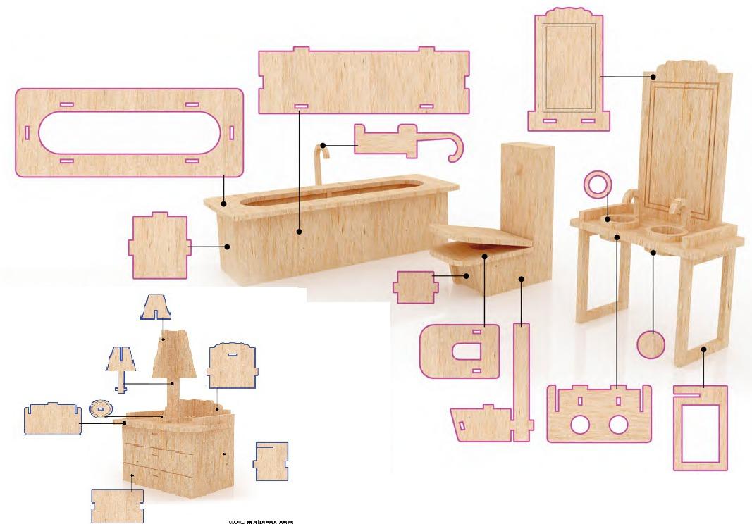 Muebles Casas Munecas Dise Os Arquitect Nicos Mimasku Com # Muebles Fibrofacil Para Casa Munecas