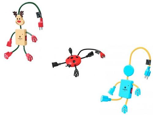 Multicontacto Voltech Divertidas Figuras Reno Robot Catarina