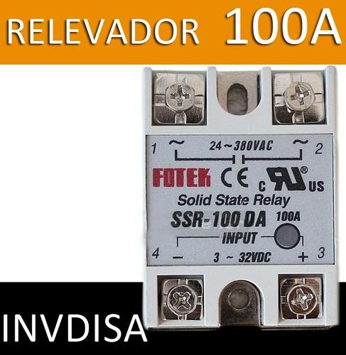 Relevador De Estado Sólido Ssr-100da 100a/250v 3-32vdc 100a